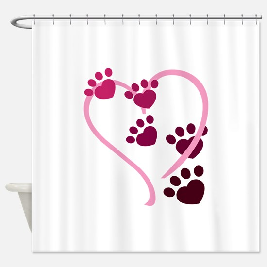 Dog Paws Shower Curtain