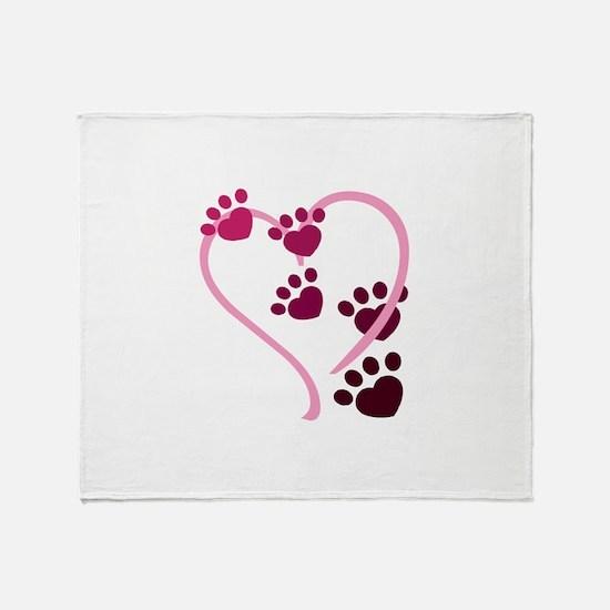 Dog Paws Throw Blanket