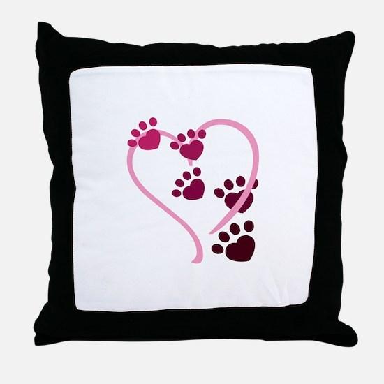 Dog Paws Throw Pillow