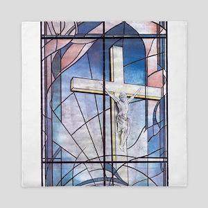 Design for church Window Queen Duvet