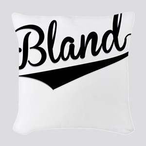 Bland, Retro, Woven Throw Pillow