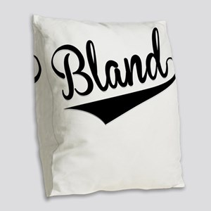 Bland, Retro, Burlap Throw Pillow