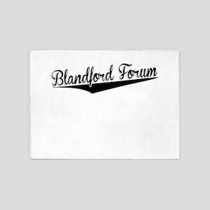 Blandford Forum, Retro, 5'x7'Area Rug