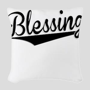 Blessing, Retro, Woven Throw Pillow
