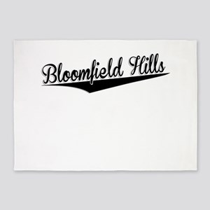 Bloomfield Hills, Retro, 5'x7'Area Rug