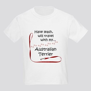 Australian Terrier Travel Leash Kids Light T-Shirt