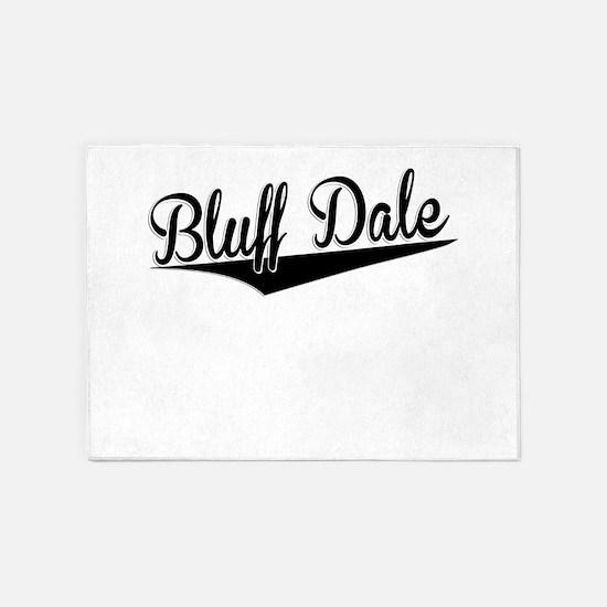 Bluff Dale, Retro, 5'x7'Area Rug