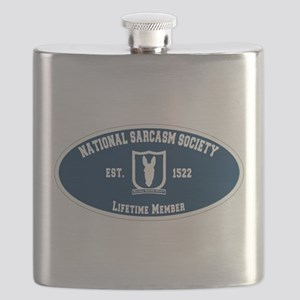 National Sarcasm Society Flask