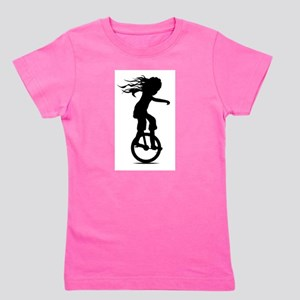 Little Girl On A Unicycle T-Shirt