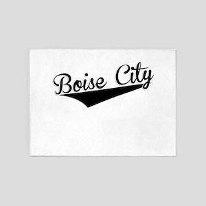 Boise City, Retro, 5'x7'Area Rug