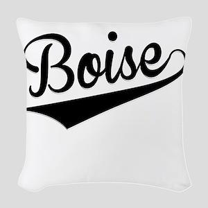 Boise, Retro, Woven Throw Pillow
