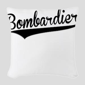 Bombardier, Retro, Woven Throw Pillow