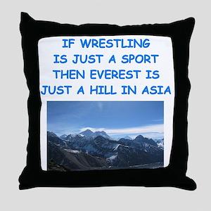 WRESTLING5 Throw Pillow