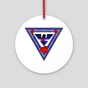 LEATHER PRIDE EAGLE TRIANGLE Ornament (Round)