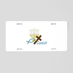 Coexist Aluminum License Plate