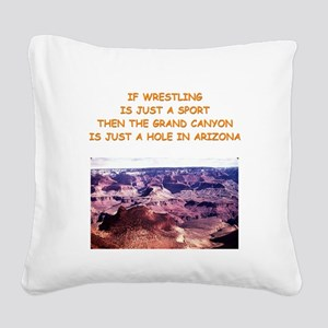 WRESTLING3 Square Canvas Pillow