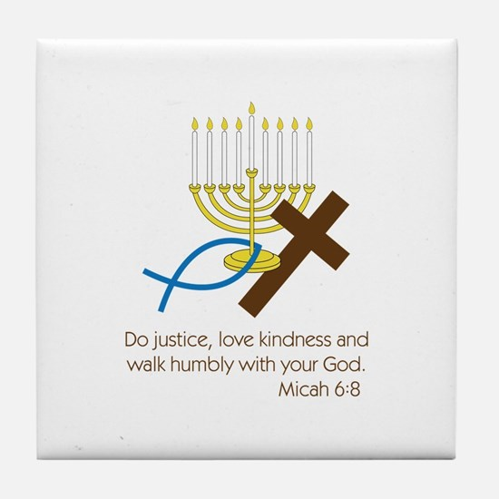 Micah 6:8 Tile Coaster