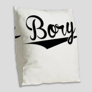 Bory, Retro, Burlap Throw Pillow