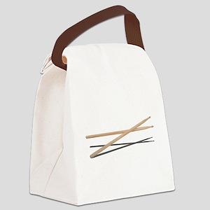 CrossedDrumSticks042211 Canvas Lunch Bag