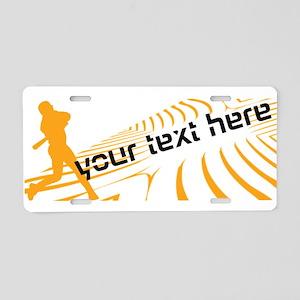 Personalisable Baseball Aluminum License Plate