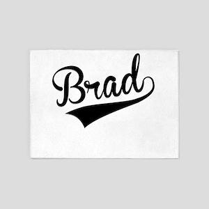 Brad, Retro, 5'x7'Area Rug