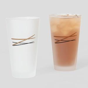 CrossedDrumSticks042211 Drinking Glass