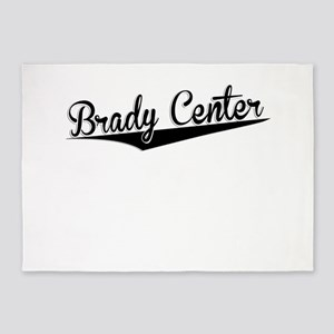 Brady Center, Retro, 5'x7'Area Rug