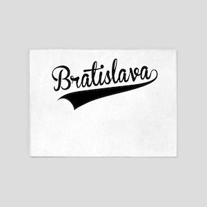 Bratislava, Retro, 5'x7'Area Rug
