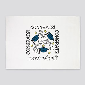 CONGRATS! now what? 5'x7'Area Rug