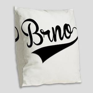 Brno, Retro, Burlap Throw Pillow