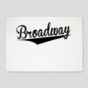 Broadway, Retro, 5'x7'Area Rug
