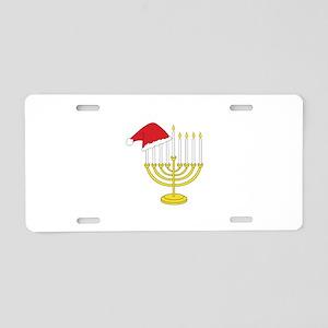Hanukkah And Christmas Aluminum License Plate