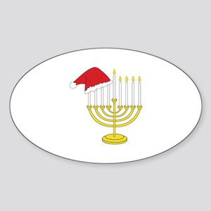 Hanukkah And Christmas Sticker