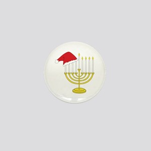 Hanukkah And Christmas Mini Button