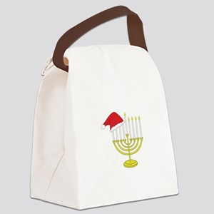 Hanukkah And Christmas Canvas Lunch Bag