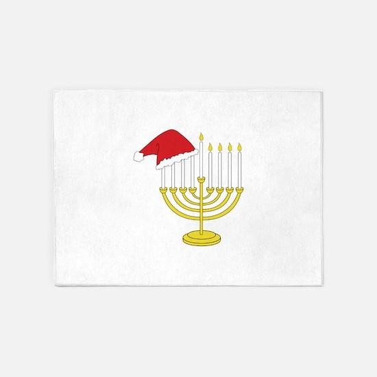 Hanukkah And Christmas 5'x7'Area Rug