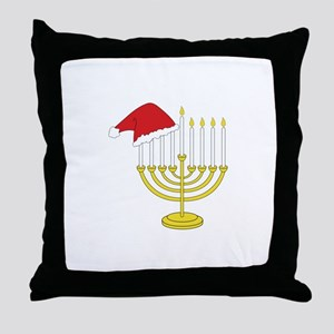 Hanukkah And Christmas Throw Pillow