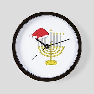 Hanukkah And Christmas Wall Clock