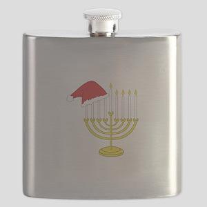 Hanukkah And Christmas Flask