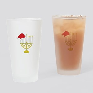 Hanukkah And Christmas Drinking Glass