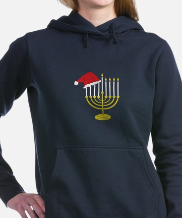 Hanukkah And Christmas Women's Hooded Sweatshirt