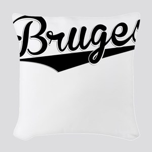 Bruges, Retro, Woven Throw Pillow