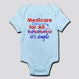 Medicare for all in blue and red Body Suit