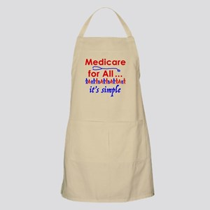Medicare for all in blue and red Light Apron