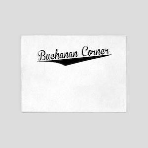 Buchanan Corner, Retro, 5'x7'Area Rug