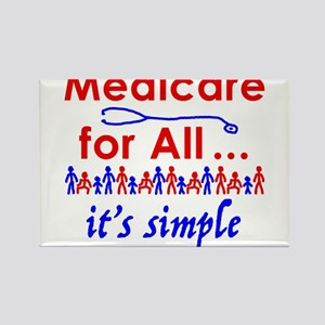 Medicare for all in blue and red Magnets