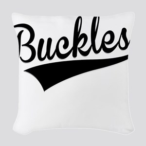 Buckles, Retro, Woven Throw Pillow