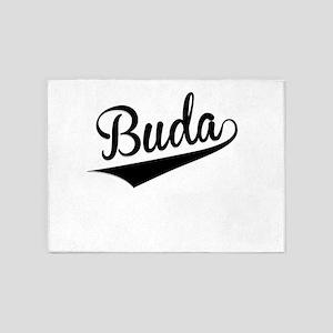 Buda, Retro, 5'x7'Area Rug