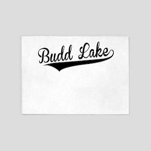 Budd Lake, Retro, 5'x7'Area Rug