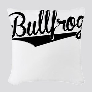 Bullfrog, Retro, Woven Throw Pillow